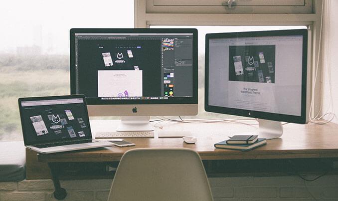 Studio grafico e ambiti di comunicazione, varie tipologie di device