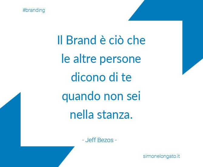 citazione aforisma branding Bezos