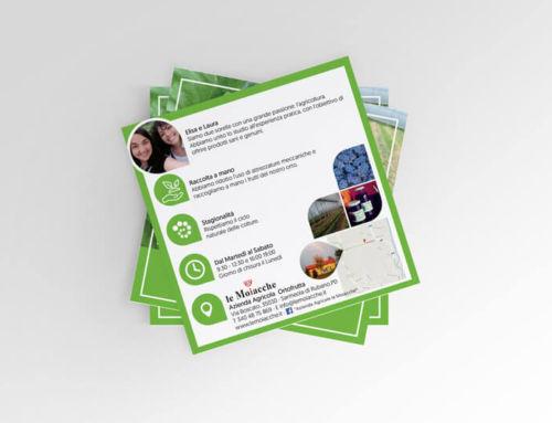 Creazione cartolina pubblicitaria per Azienda Agricola Le Moiacche