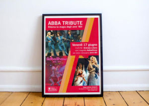 Abda show tribute band 80s flyer
