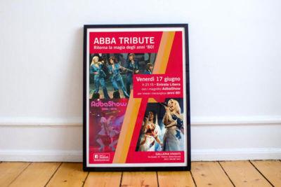 Abda show tribute band 80s flyer