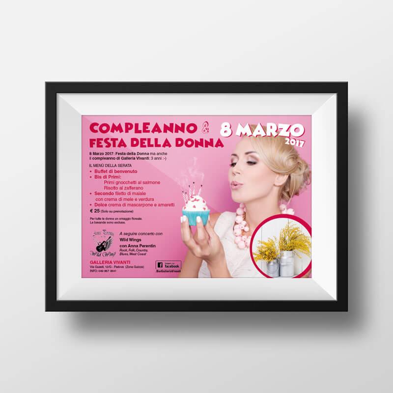 Volantino flyer Festa della Donna