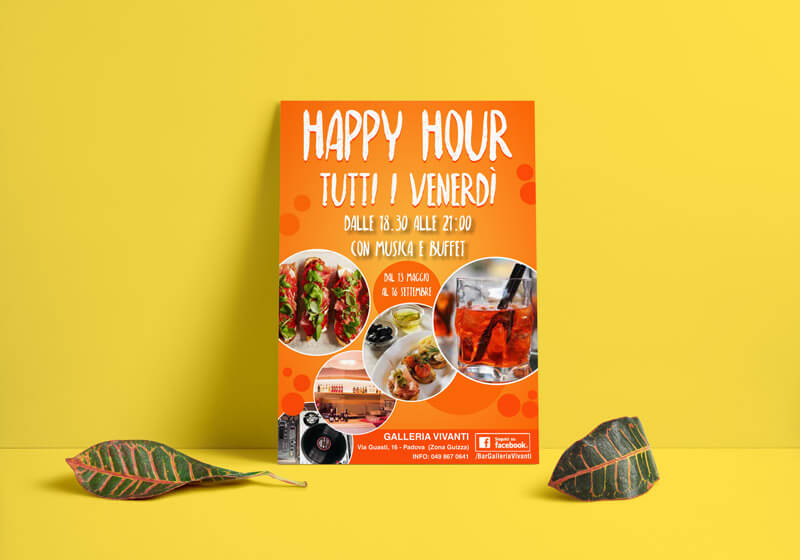 Volantino per happy hour