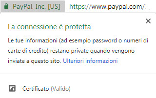 esempio di green bar in Chrome