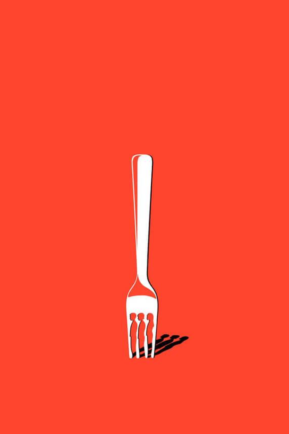 Pantone Unignorable forchetta