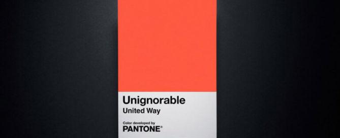 Pantone Unignorable United Way