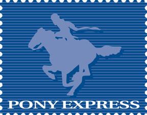 pony express logo originale del 1985