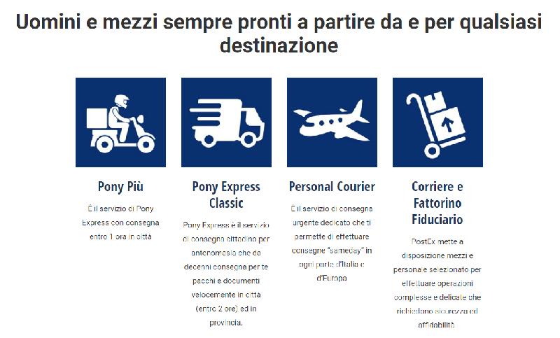 PostEx Srl servizi di pony express