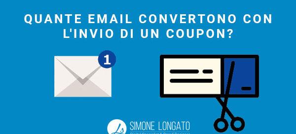 Quante email convertono con l'invio di un coupon Statistica