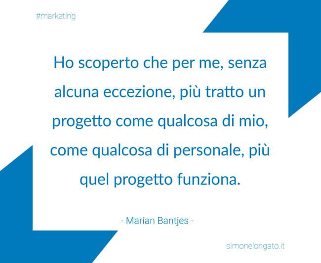 citazione Marian Bantjes progetto marketing