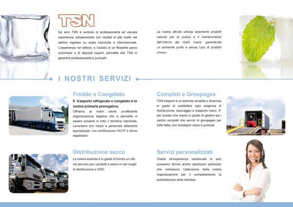 creazione opuscolo azienda autotrasporti