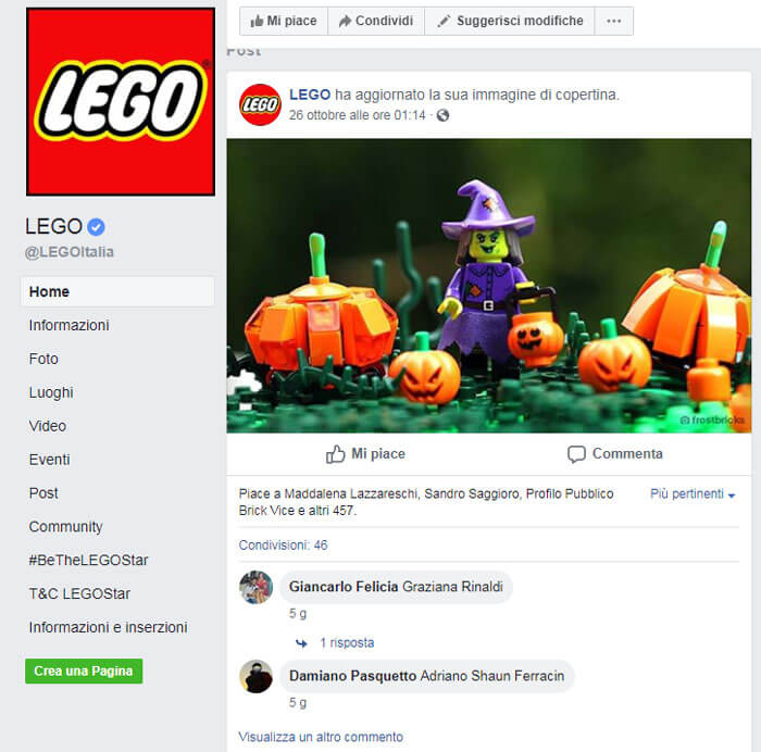 Lego Halloween Social Network Facebook