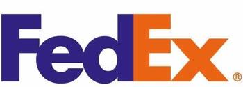 Logo blu arancione Fedex