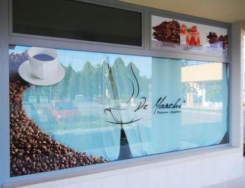 Vetrofania a Noale per Caffetteria Ciccolatareia Pasticceria