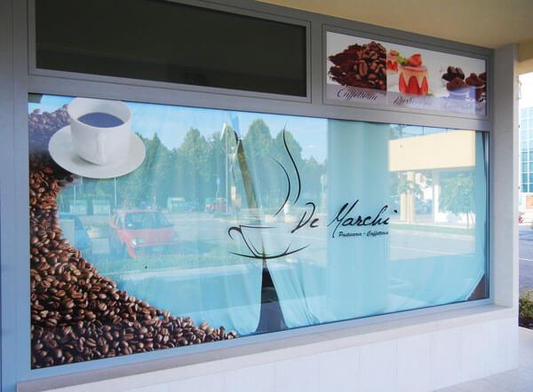 vetrofania Noale caffetteria cioccolateria pasticceria