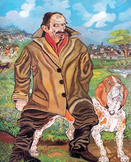 Autoritratto con cane Antonio Ligabue