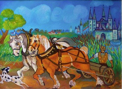 Cavalli normanni Antonio Ligabue