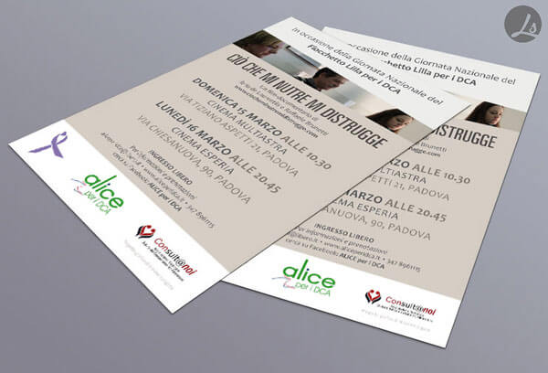 flyer per Alice per i DCA