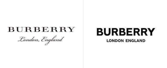 Burberry London England restyling logo