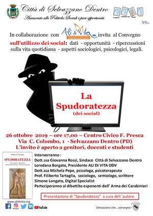 Convegno sull'utilizzo dei social padova - locandina