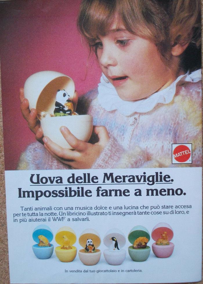 Pubblicità Advertising Werbung Italia Clipping 1987 UOVA DELLE MERAVIGLIE MATTEL