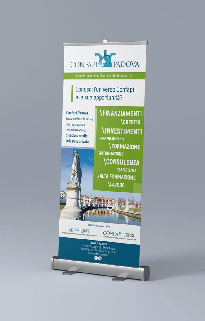 banner grafico rollup associazione di categoria Confapi Padova