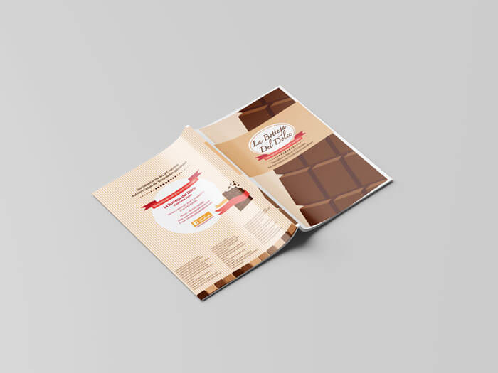 brochure pasticceria retro
