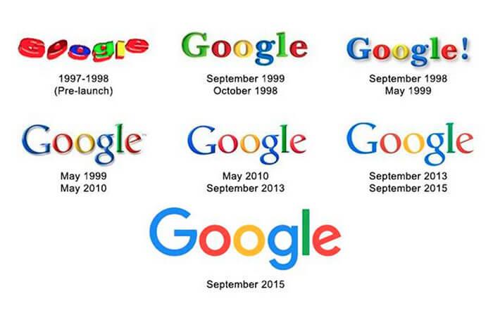 La storia del cambio di logo di Google