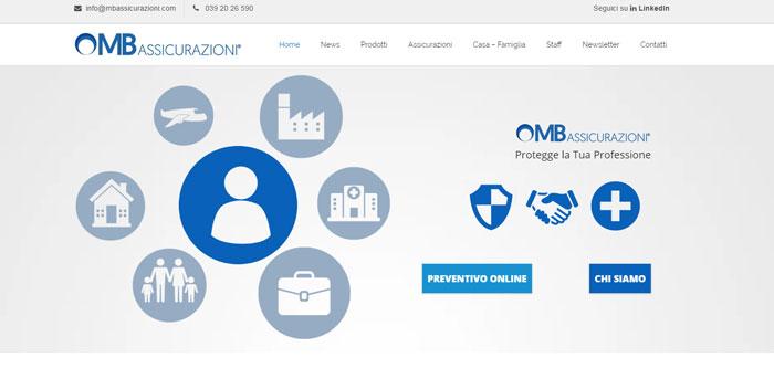 homepage sito assicurazione