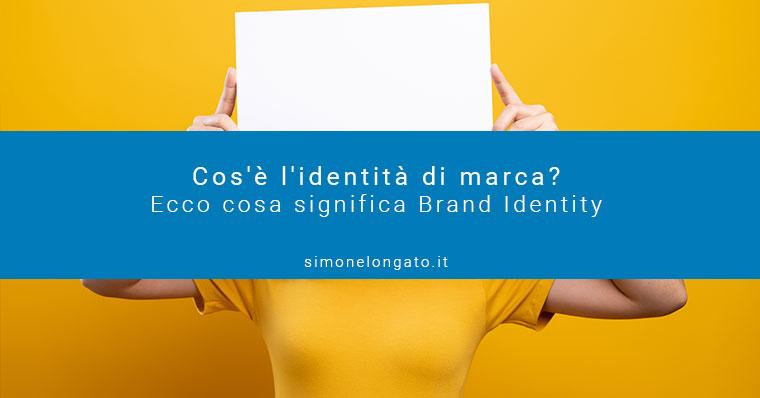 Identità di marca e brand identity