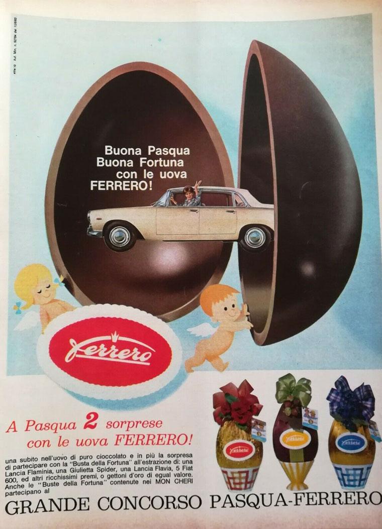 pubblicità vintage Ferrero uovo Pasqua
