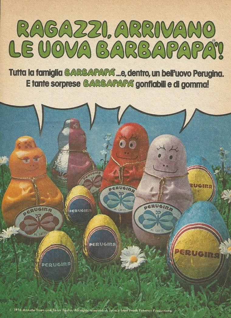 pubblicità vintage Barbapapà Perugina 1977