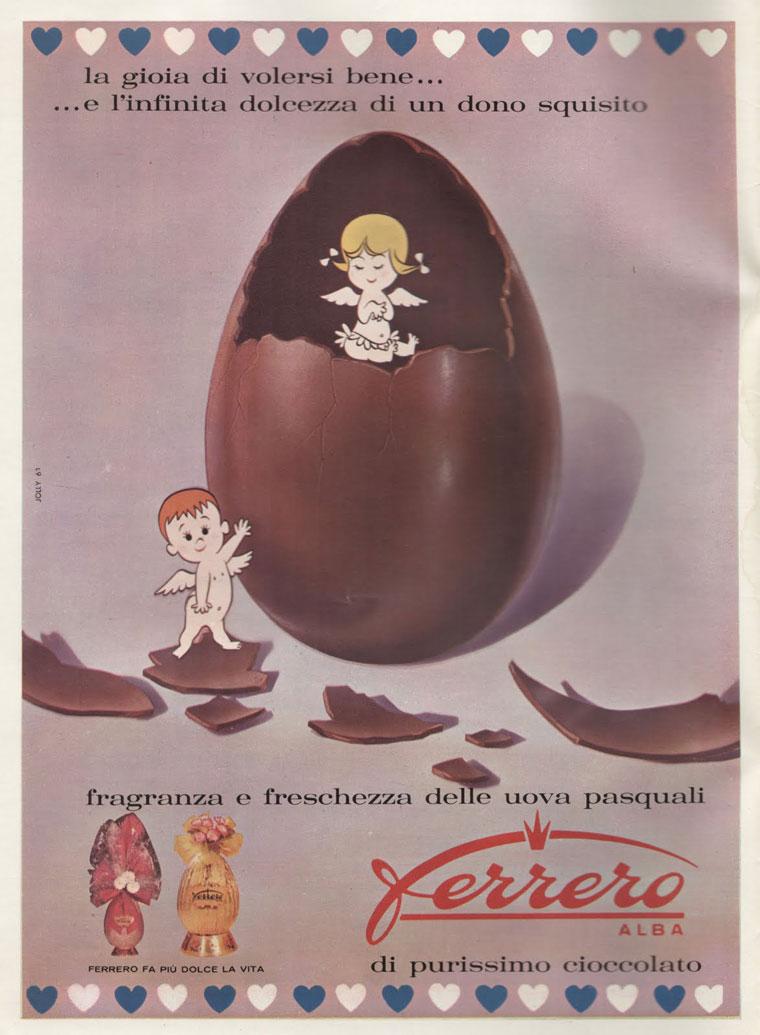 pubblicità pasquale Ferrero vintage 1961