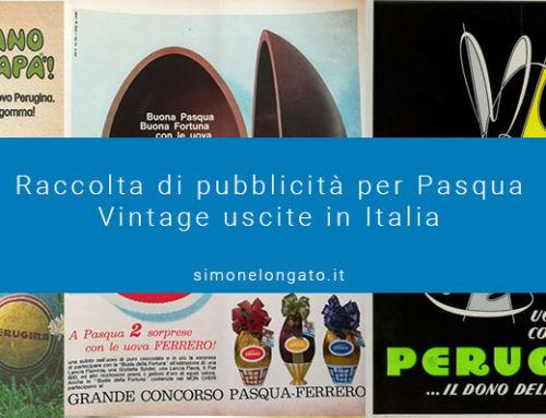 Raccolta pubblicitaria vintage per Pasqua di advertising in Italia