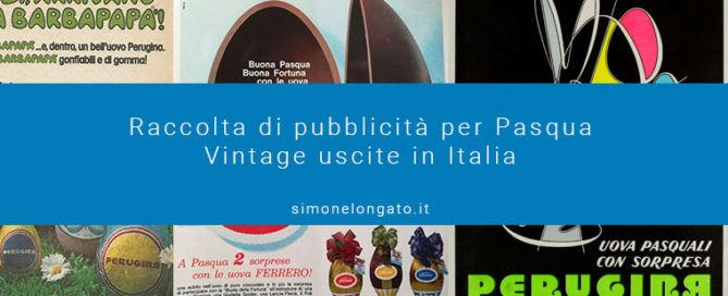 raccolta pubblicità per Pasqua vintage Italia