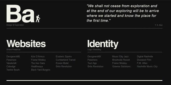 sito web bianco nero tendenza web design