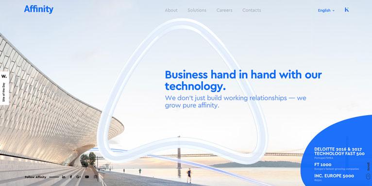 tendenze internet design forme irregolari siti