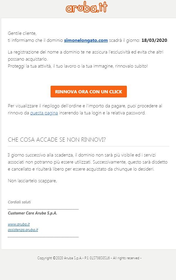 tentativo di phishing aziendale
